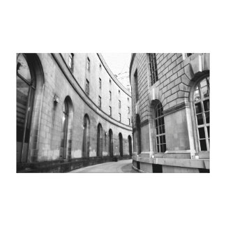 Library Walks, Manchester Canvas Print