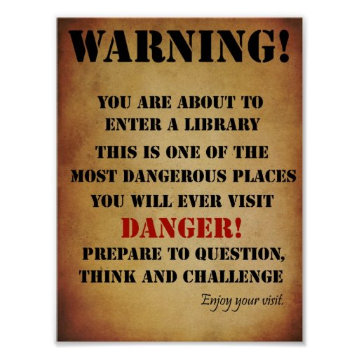 Library Warning Poster