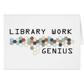 Library Work Genius Greeting Cards
