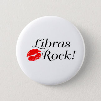 Libras Rock 6 Cm Round Badge