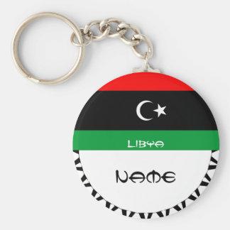 Libya 2011-  FLAG Basic Round Button Key Ring