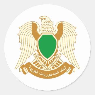 Libya coat of arms classic round sticker