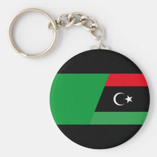 libya combined basic round button key ring