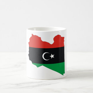 libya country flag map basic white mug