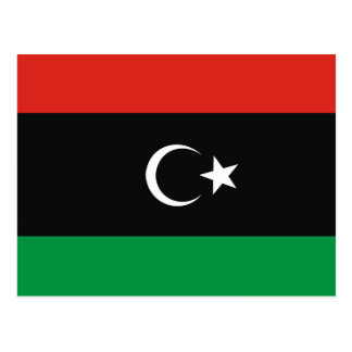 Libya country long flag nation symbol republic postcard