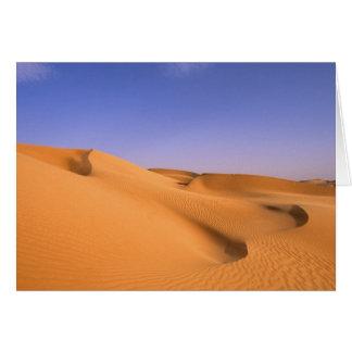 Libya, Fezzan, Sahara desert, Erg Murzuq, Sand Card