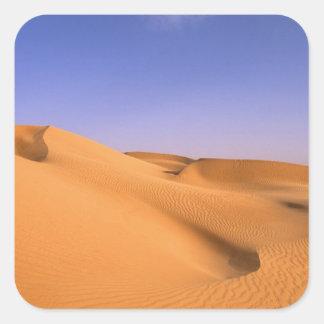 Libya, Fezzan, Sahara desert, Erg Murzuq, Sand Square Sticker