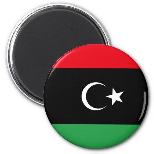 Libya Flag 1951 6 Cm Round Magnet