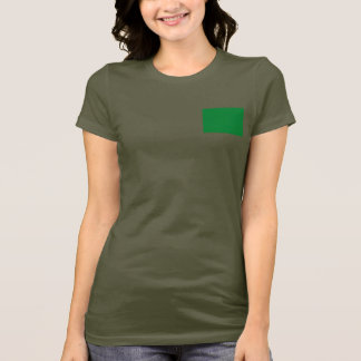 Libya Flag and Map dk T-Shirt