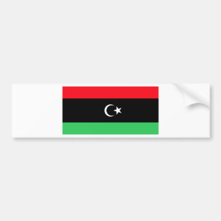 Libya Flag Bumper Sticker