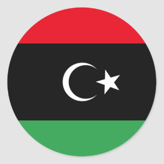 Libya Flag Classic Round Sticker