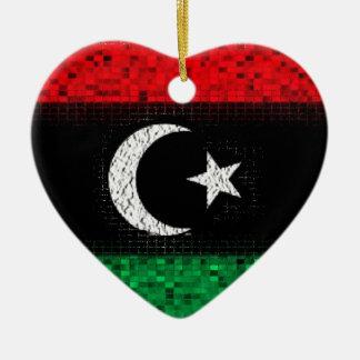 Libya Flag glitter ornament