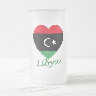 Libya Flag Heart with Name Coffee Mug