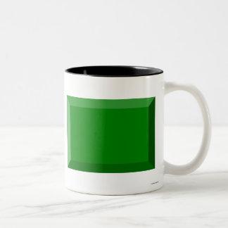 Libya Flag Jewel Two-Tone Mug