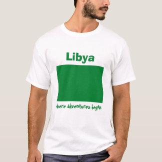 Libya Flag + Map + Text T-Shirt