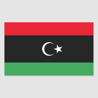Libya Flag Rectangular Sticker