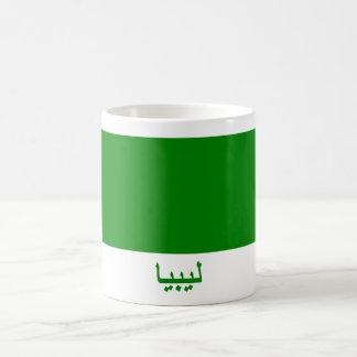 Libya Flag with Name in Arabic Basic White Mug