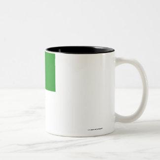 Libya Flag with Name Two-Tone Mug