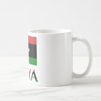 Libya Flag & Word Basic White Mug