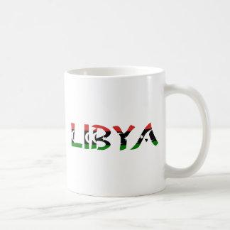 Libya FlagWord Basic White Mug