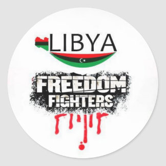 Libya: freedom fighters classic round sticker