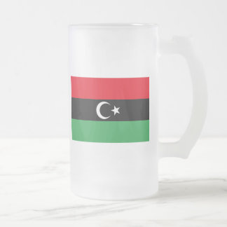 libya frosted glass mug