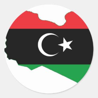Libya LY Classic Round Sticker
