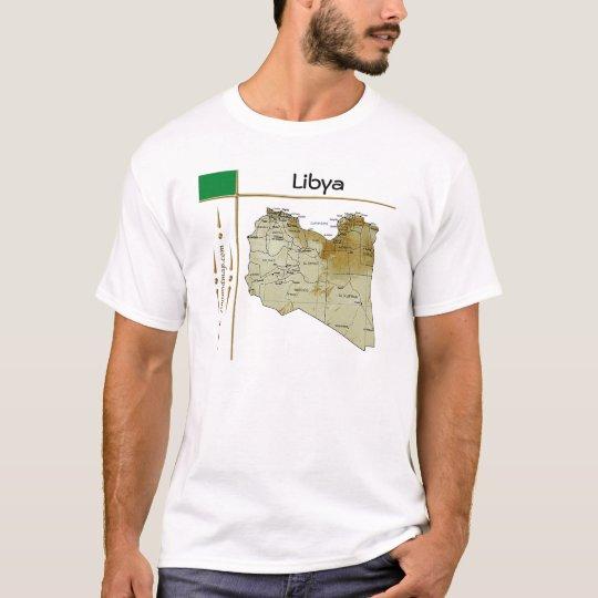 Libya Map + Flag + Title T-Shirt