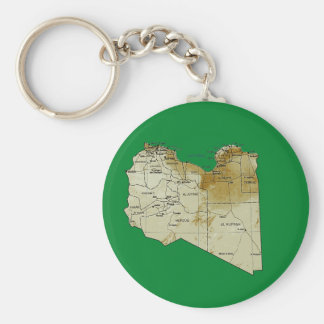 Libya Map Keychain
