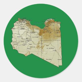 Libya Map Sticker