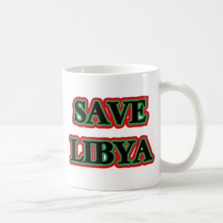 Libya - Save Libya Basic White Mug