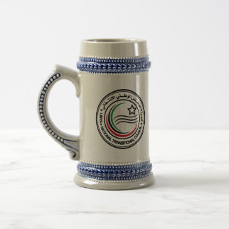 libya transitional council seal beer steins