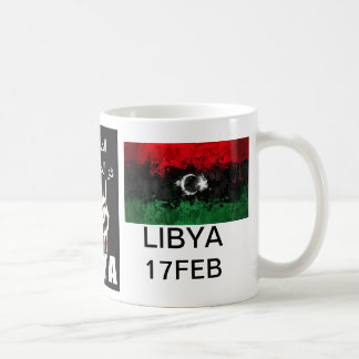 Libyan blood is the red line basic white mug