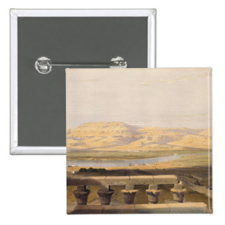 Libyan Chain of Mountains from the Temple of Luxor Pinback Buttons