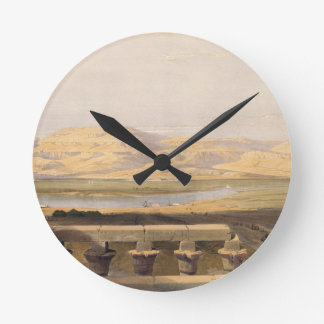 Libyan Chain of Mountains from the Temple of Luxor Wallclock