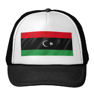 Libyan Independence flag - Free Libya protest flag Mesh Hats