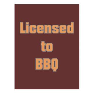 Licenced to BBQ Postkarte