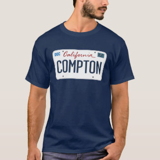 License Plate Compton California T Shirt
