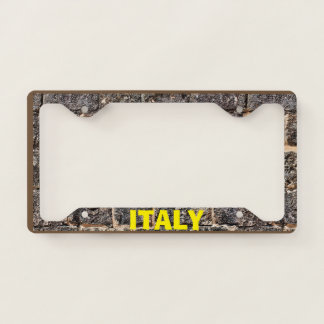 License Plate Frame Italy