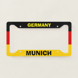 License Plate Frame Munich Germany