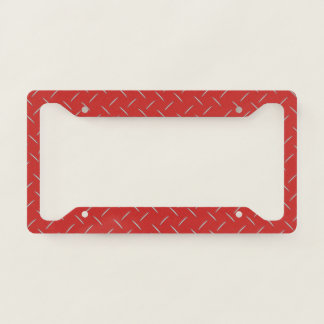 License Plate Frame - Stamped Steel Red