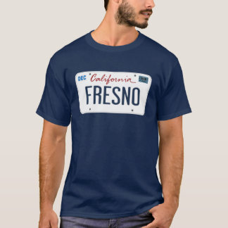 License Plate Fresno California T Shirt