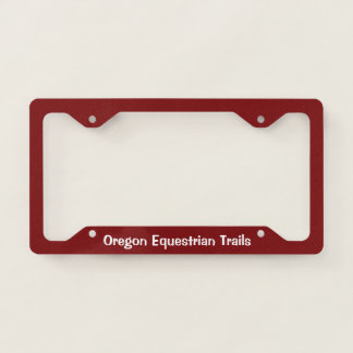 License plate surround with logo licence plate frame