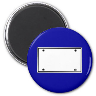 License plate template 6 cm round magnet