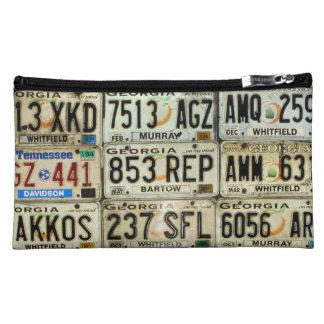 License Plates Makeup Bag