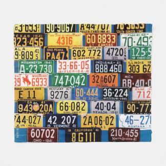 License Plates by H. Wilson Smith Fleece Blanket