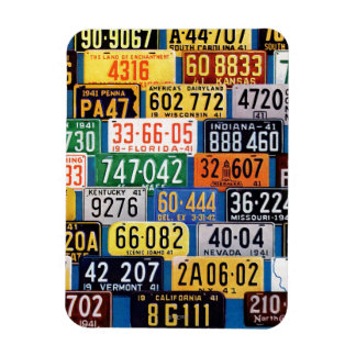 License Plates by H. Wilson Smith Rectangular Photo Magnet
