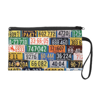 License Plates by H. Wilson Smith Wristlet Purses