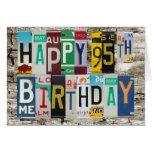 License Plates Happy 95th Birthday Card