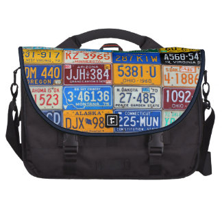 License Plates of USA - Colorful Road Trip Computer Bag